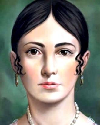 Retrato de Leona Vocario de joven