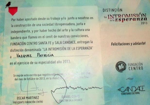 Distinción 2013