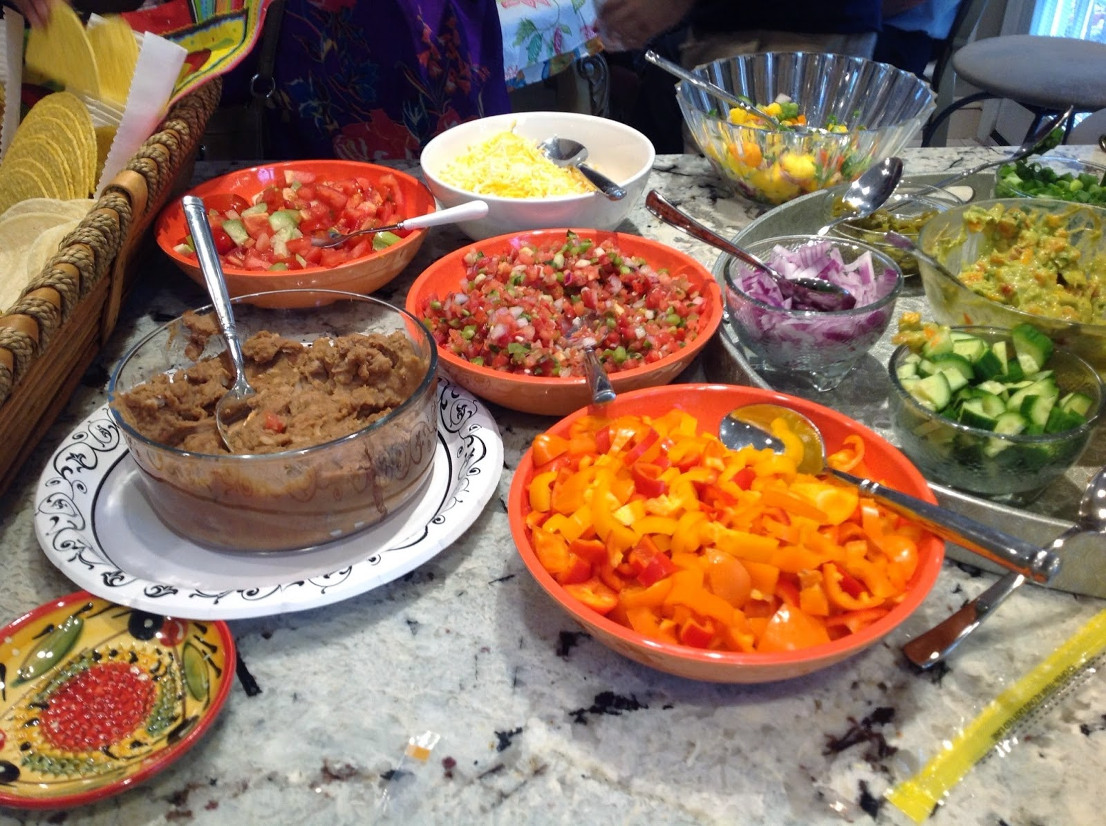 vegan taco bar