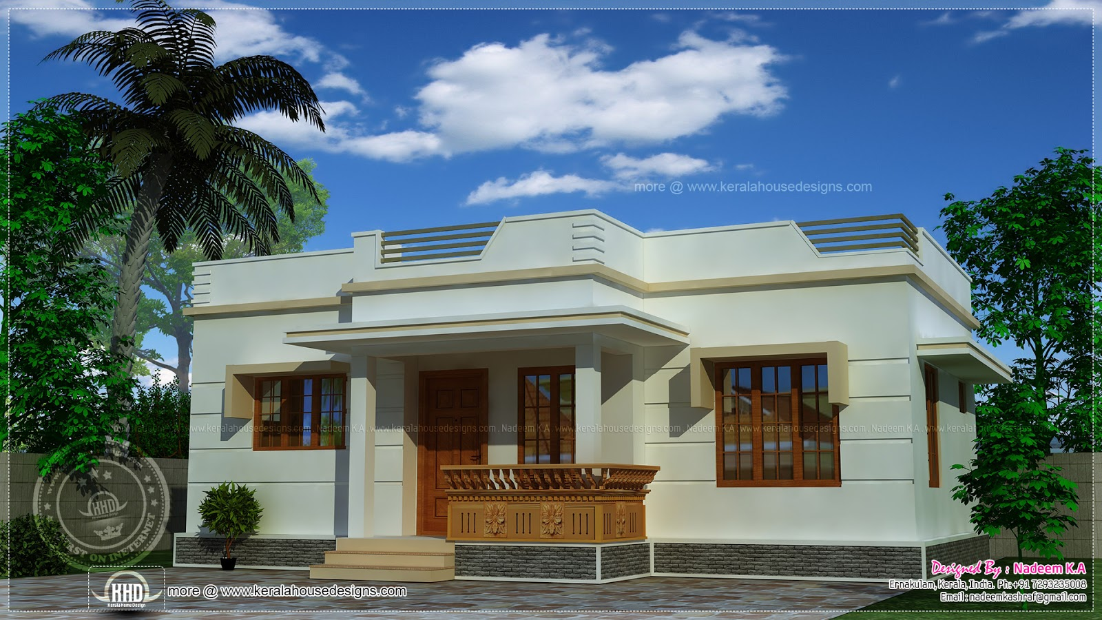 Affordable kerala style house in 650 sq ft kerala home for Kerala single floor house plans