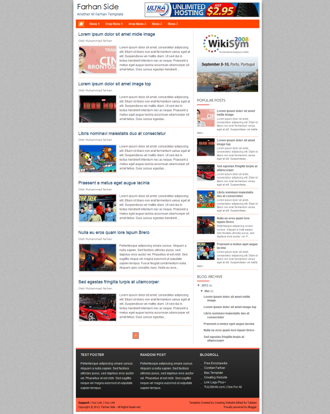 Farhan Side Responsive Blogger Template