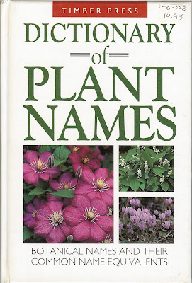 Dictionary of Plant Name - Front Cover