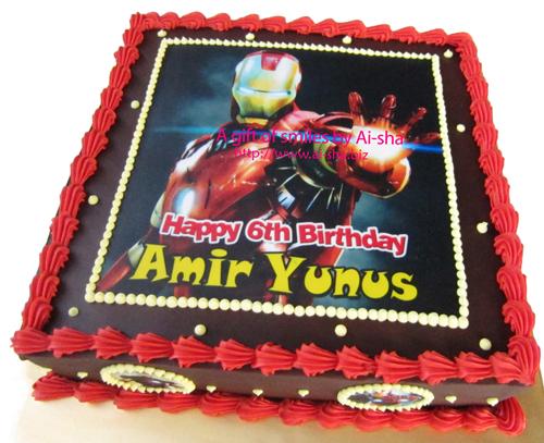 Birthday Cake Edible Image Iron Man Ai-sha Puchong Jaya