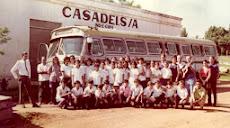 Anos 70: estudantes em excursão a Presidente Prudente.