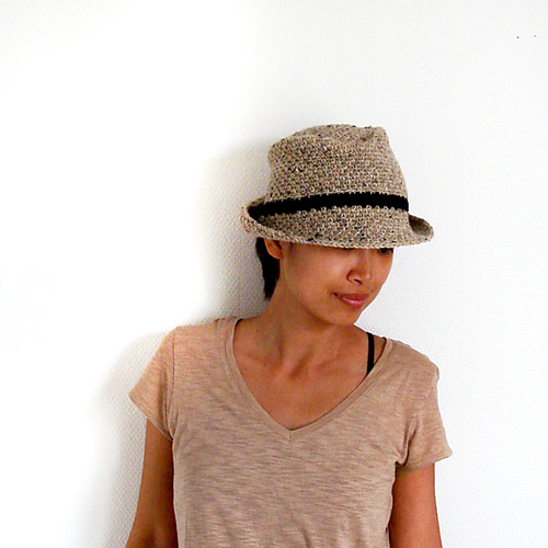 Free Crochet Patterns For Fedora Hat : Crochet a Fedora Hat - iKNITS