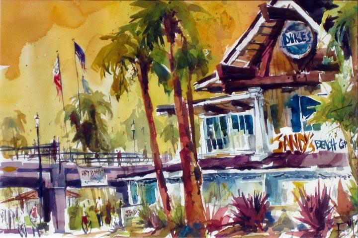 Watercolors By Eileen Strolling Past Dukes