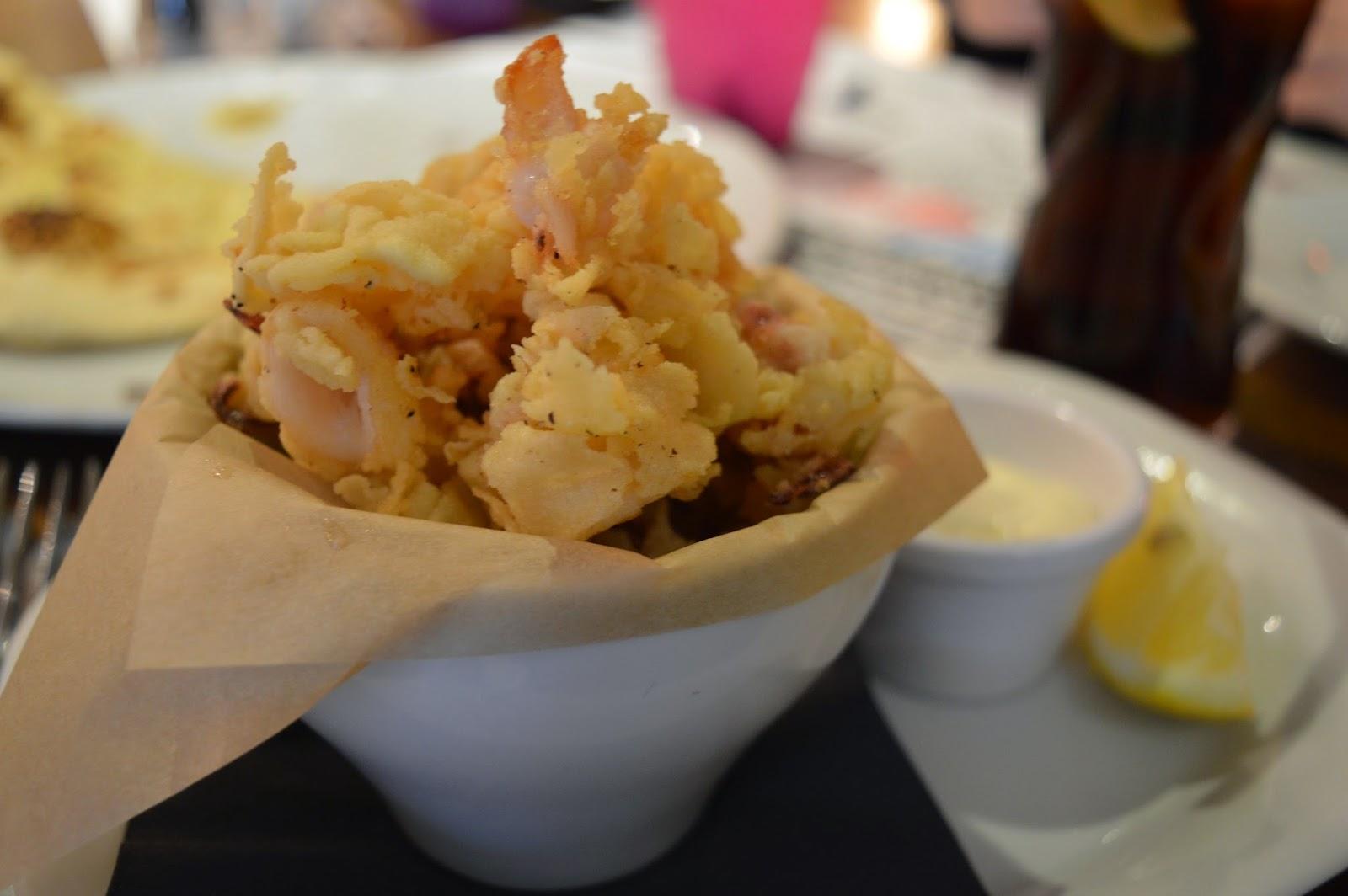 Calamari starter - Scalini's Gosforth