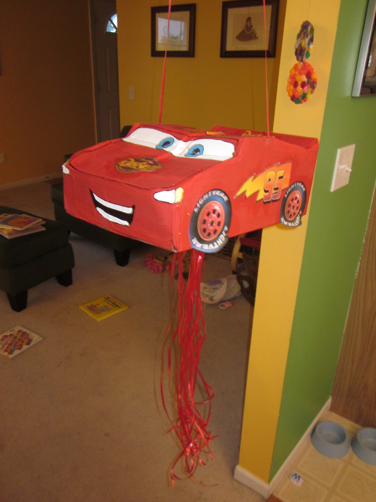 Because i said so and other mommyisms diy pull string lightning mcqueen pinata