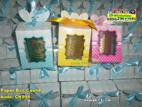 Paper Box Cantik murah