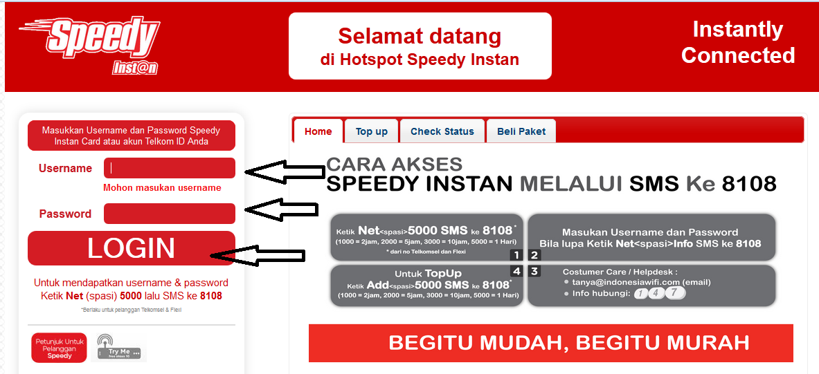 User Name dan Password Speedy Instan @wifi.id 17 Oktober