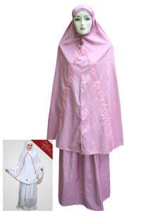 Mukena Dewasa Tatuis Tiara 021 - Dusty Pink (Toko Jilbab dan Busana Muslimah Terbaru)