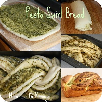 Pesto-Swirl-Bread