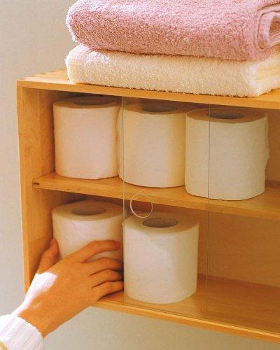 Estantes Para Baños Madera:Um simples armário no banheiro, mas com muitos detalhes, ficou lindo