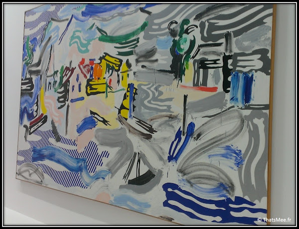 Roy Lichtenstein fishing Village coup de pinceau Brushstrokes Centre Georges Pompidou