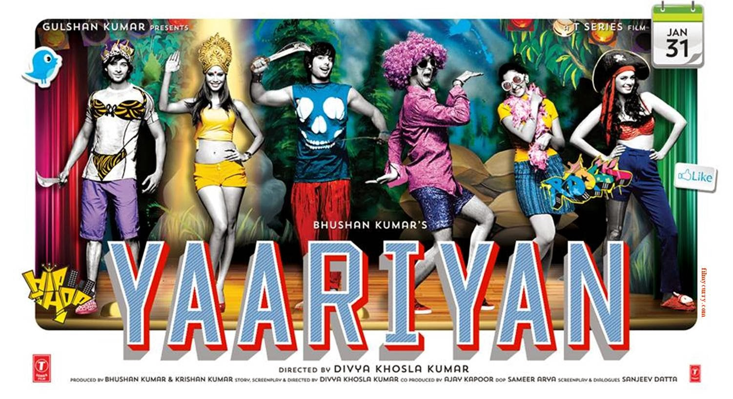 Yaariyan Hindi Movie Poster bollywood hit songs: Y...