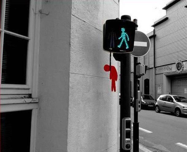 exemplos de arte urbana - Street Art - Semaforo