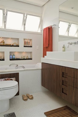 cuarto baño madera