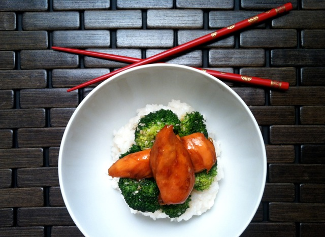 Chicken Teriyaki with Sesame Seed Broccoli and Sticky Rice