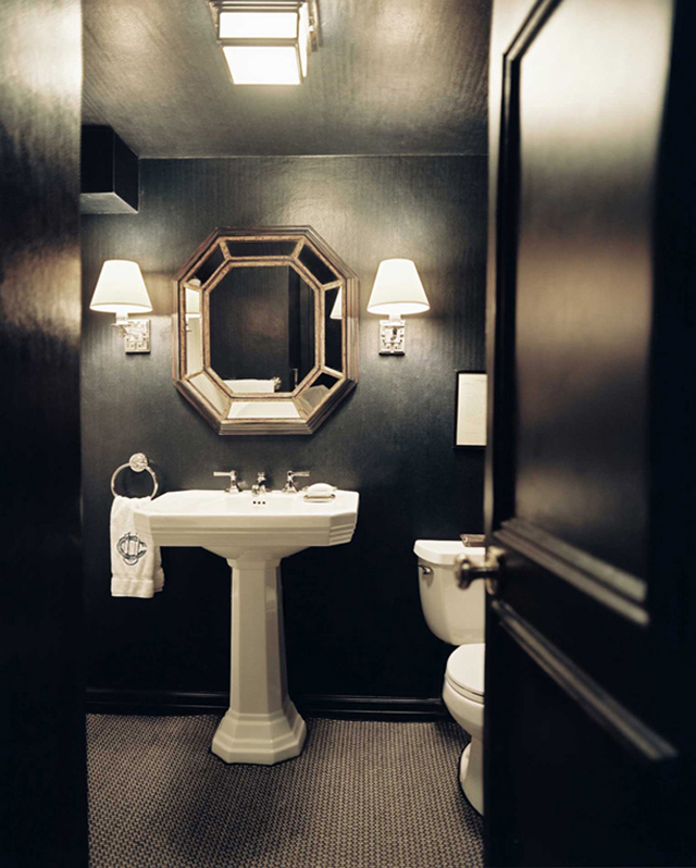 Great Powder Rooms with Dark Walls 640 x 798 · 279 kB · jpeg
