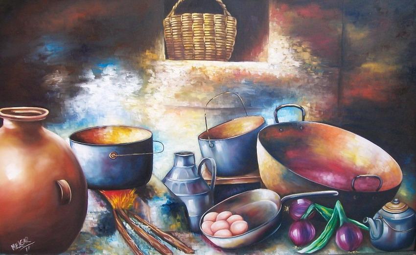 Cuadros modernos pinturas y dibujos estufas y hornillas for Laminas para cuadros de cocina