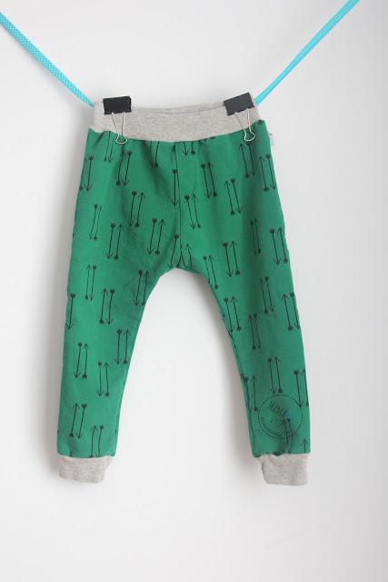 spodnie baggy z kawałków