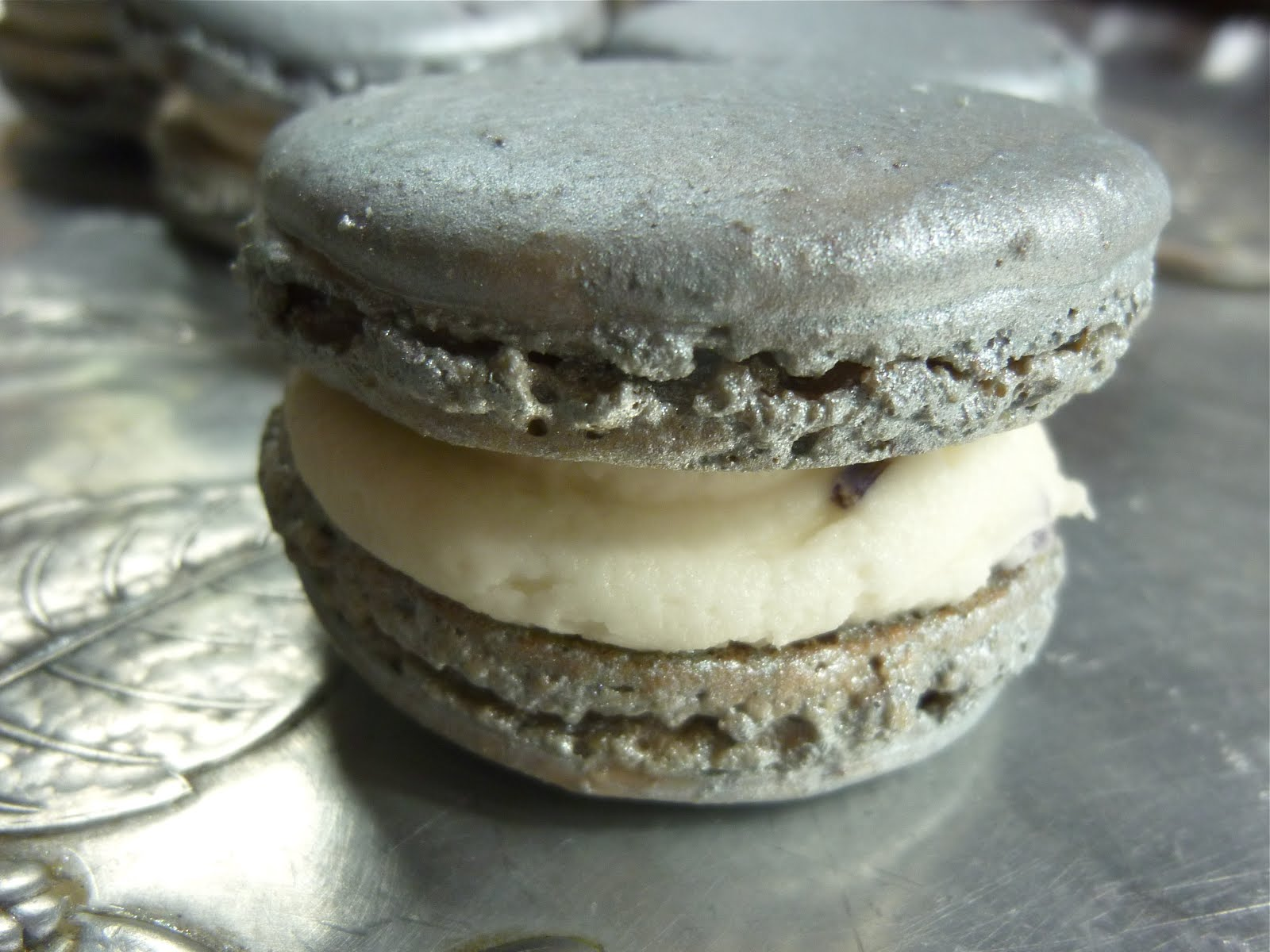 Allspice Cashew French Macarons with Honey Buttercream Filling