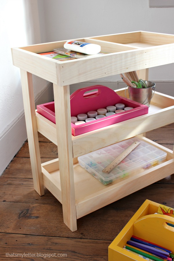 diy wood art cart free plans
