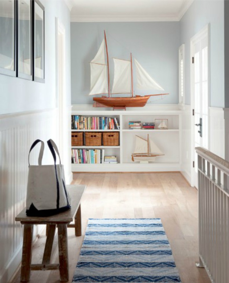 Coastal space with nautical elements