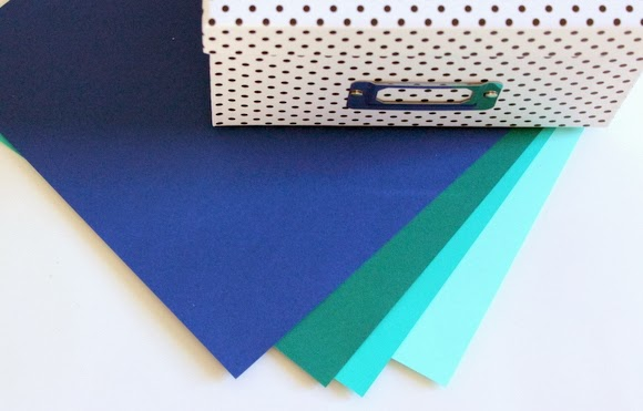 Essential supplies- a cute box and cardstock