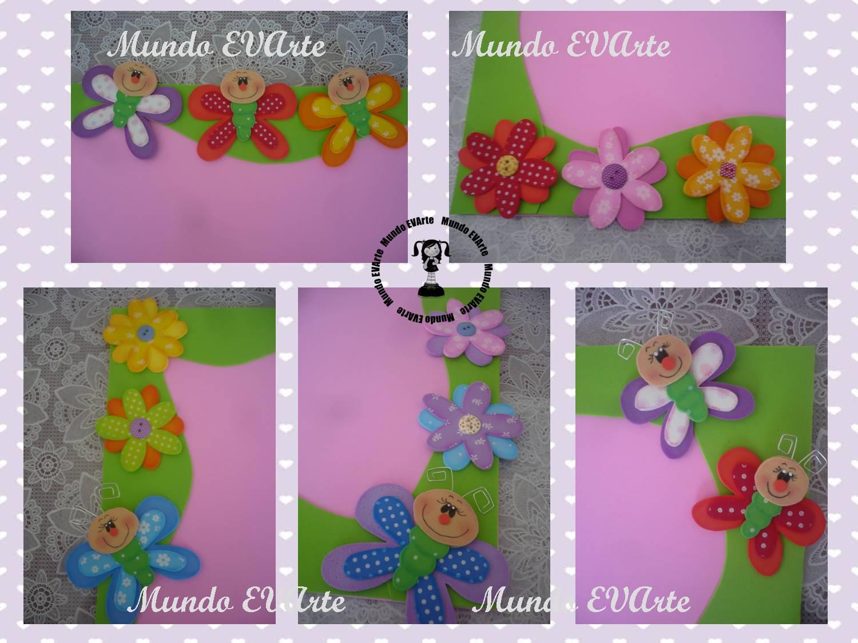 Quadro Mural Para Fotos  Borboletinhas E Flores