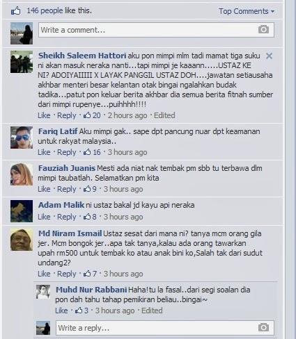 Seorang Ustaz Mendapat Tawaran RM500 Untuk Tembak PM Najib?