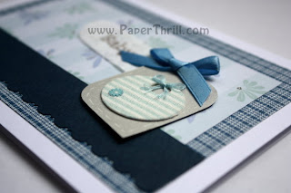 Handmade Congratulatory newborn baby boy card