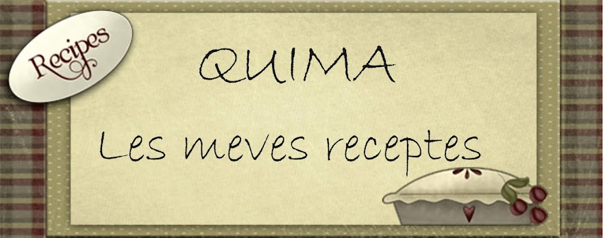 QUIMA - LES MEVES RECEPTES
