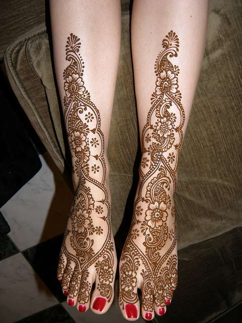 Mehndi Leg Designs : Amehndidesign top floral mehndi designs for women