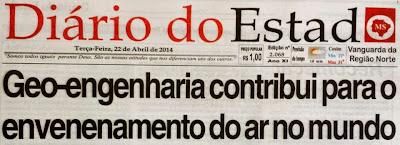 Chemtrails: Jornal de Mato Grosso do Sul publica a mais completa matéria sobre Geo-engenharia já feita no Brasil