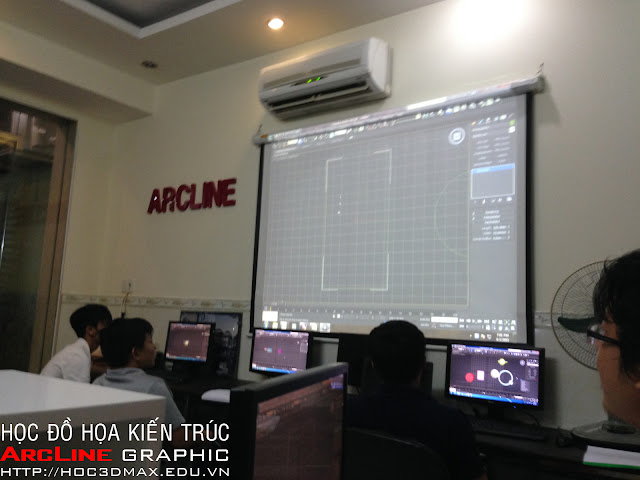 Lop hoc 3D Max chuyen dien hoa Kien truc tai ArcLine 03