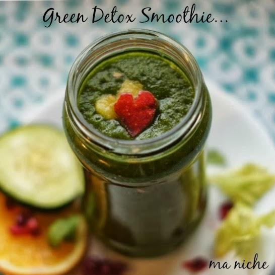a green detox smoothie...