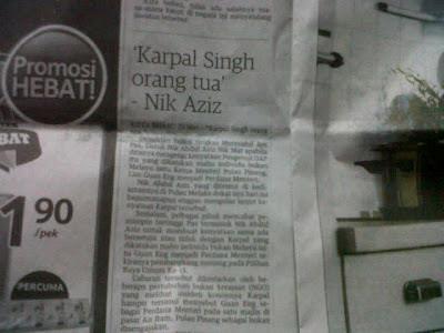 Nik Aziz : Karpal Singh Orang Tua