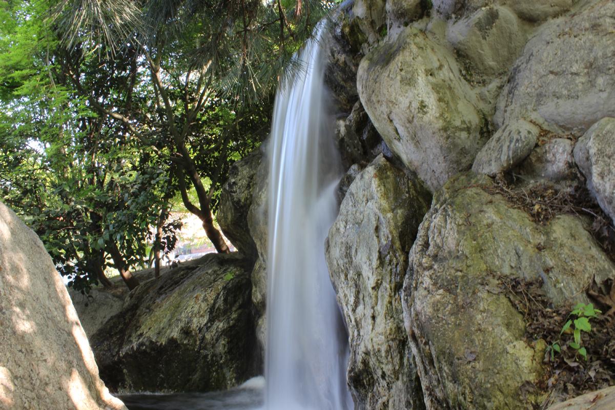 Japon bahçesi şelale