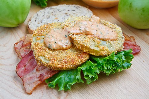Fried Green Tomato BLT with Remoulade on Closet Cooking