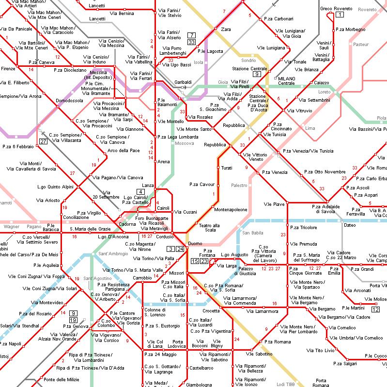 Milan, finally!: Milan transport: Metro lines, train stations ...