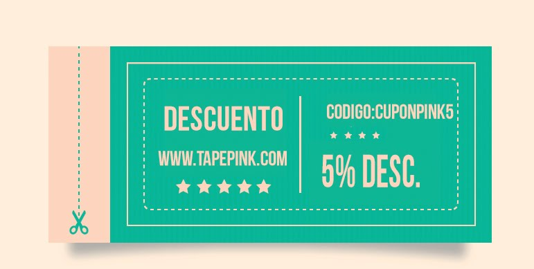5% Descuento  Tape Pink