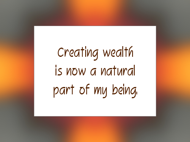 WEALTH affirmation