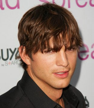Ashton Kutcher Male Celebrity Hairstyles