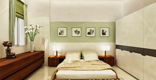 Phòng ngủ căn hộ ParcSpring
