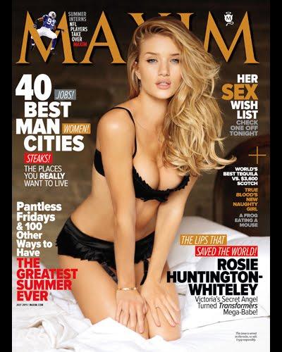 rosie huntington whiteley maxim july 2011. Maxim USA July 2011 pdf, Rosie