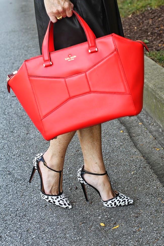 kate spade beau bag, aquazurra heels