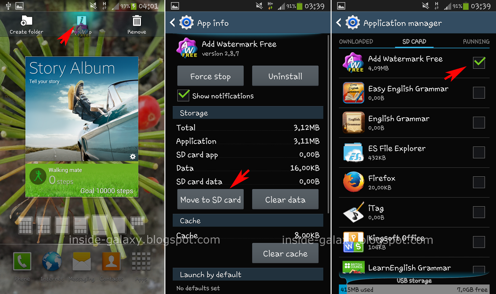 Samsung Galaxy S4: How to Move Apps to SD Card or to Device Storage