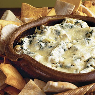 Warm, creamy Baked Spinach-and-Artichoke Dip is always a big hit! This ...