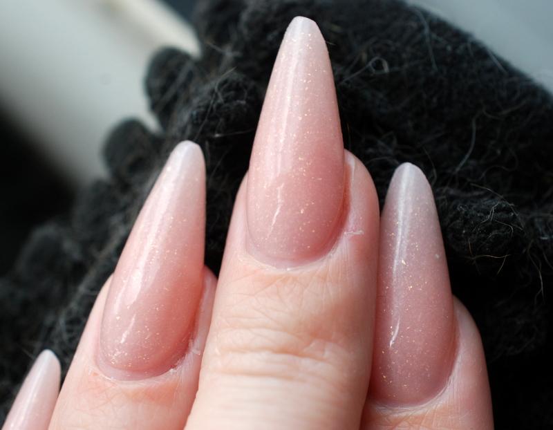 Pink nail acrylic powder